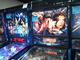 Star Wars and Demolition Man Pinball Machines