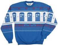 TARDIS Printed Fleece